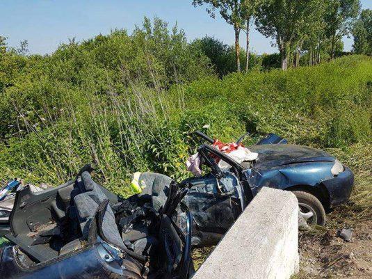 accident masina cap de pod