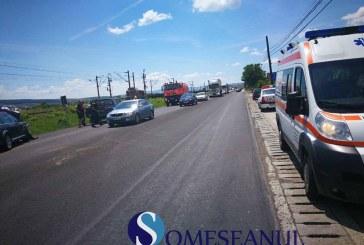 Accident rutier la Jucu. Două mașini s-au ciocnit – FOTO