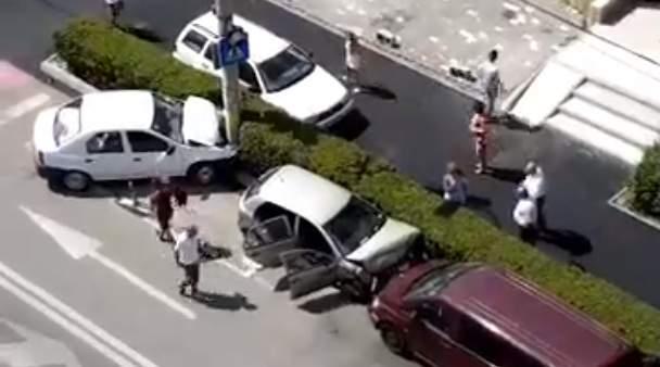 accident masina stalp cluj