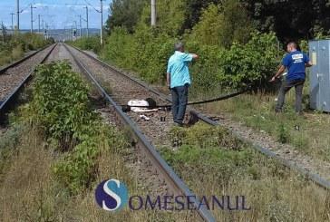 Bărbat lovit de tren la Bonțida. Oamenii spun că s-a sinucis – FOTO/VIDEO