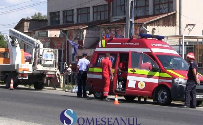 Accident de muncă la Iclod. Un bărbat a murit electrocutat – VIDEO