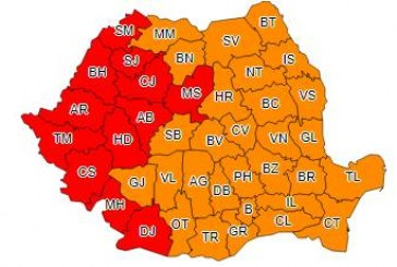 COD ROȘU de caniculă în Cluj, Sălaj și alte 10 județe