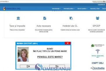 Site-ul Primăriei Dej, împânzit de reclame cu tentă sexuală – FOTO