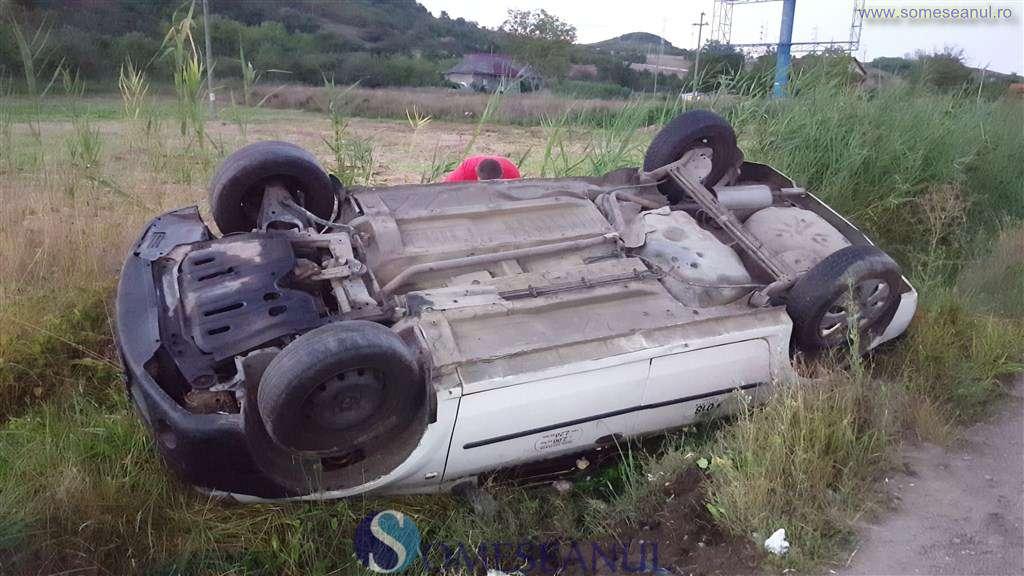 accident taximetru rasturnat sant dej