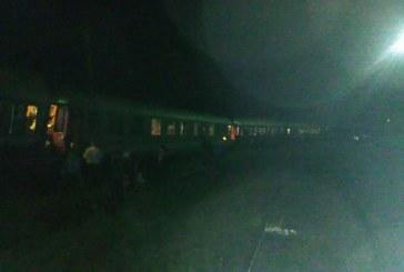 Tren deraiat la ieșire din Dej. Garnitura a sărit de pe șine -FOTO