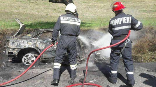 accident masina incendiata marisel