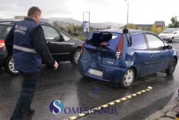 Accident la Bunești. Un TIR înmatriculat în Ungaria a intrat într-o mașină – VIDEO