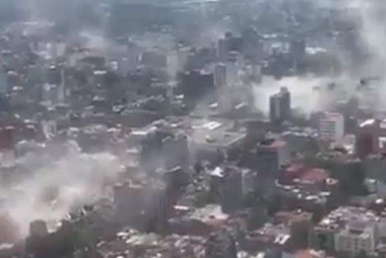 Cutremur de magnitudine 7,1 în Mexic. Imagini video îngrozitoare cu zeci de clădiri prăbușite