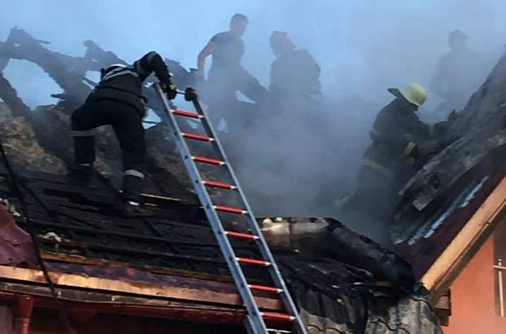 Tone de plante au ars într-un incendiu. Proprietara a făcut atac de panică