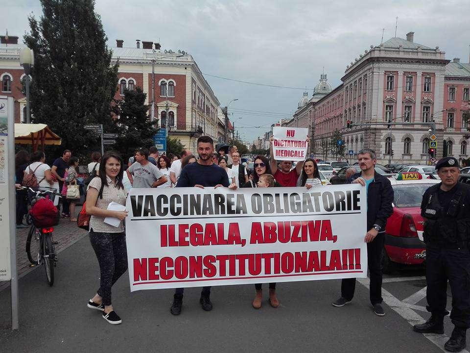 protest vaccinare cluj