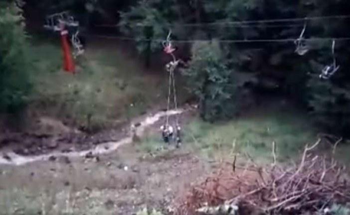 VIDEO – O gravidă s-a aruncat din telescaun la Baia-Mare, după ce s-a oprit curentul