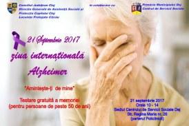 Testare gratuită a memoriei pentru dejeni cu ocazia Zilei Internaționale Alzheimer