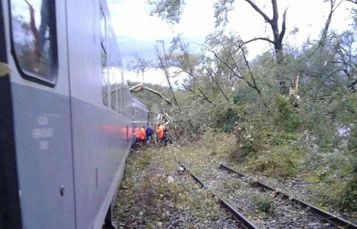 tren blocat