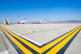 O nouă platformă pentru staționarea avioanelor pe aeroportul Cluj