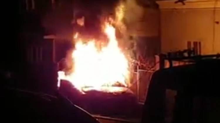 incendiu autoturism gruia cluj