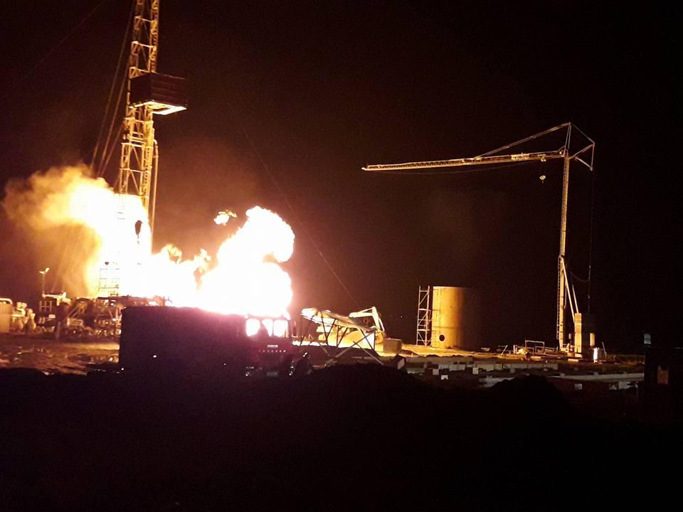 incendiu sonda gaz
