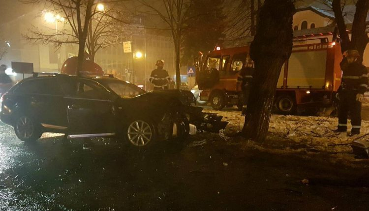 accident masina copac bistrita