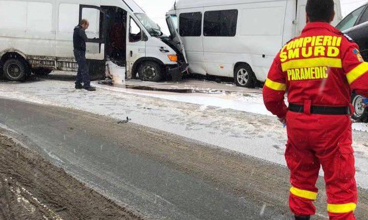 accident pasarela beclean zapada