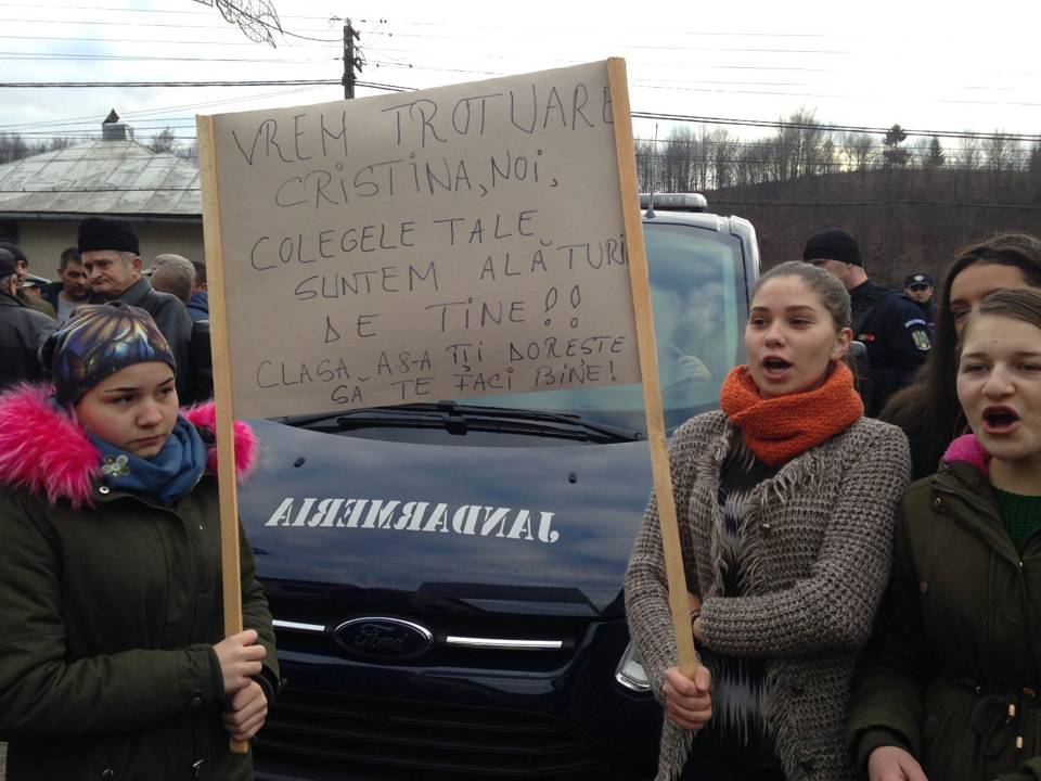 protest trotuare