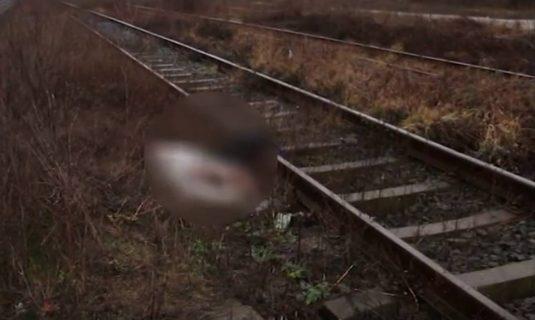 sinucidere barbat lovit de tren