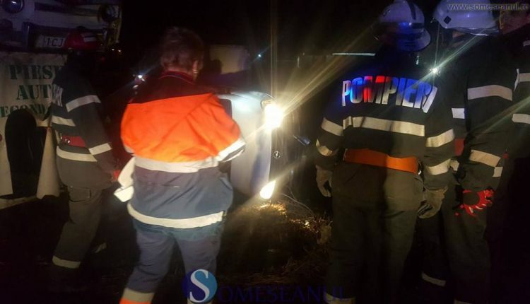 someseanul-accident turda masina rasturnata (2)