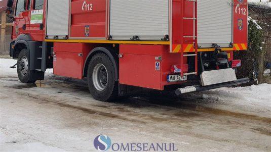 someseanul-pompieri incendiu triaj dej