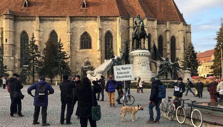 protest placute multilingve cluj