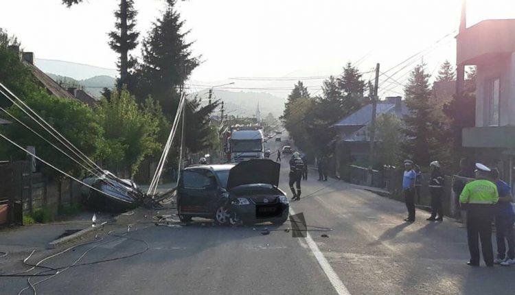 accident rupt stalp prundu bargaului