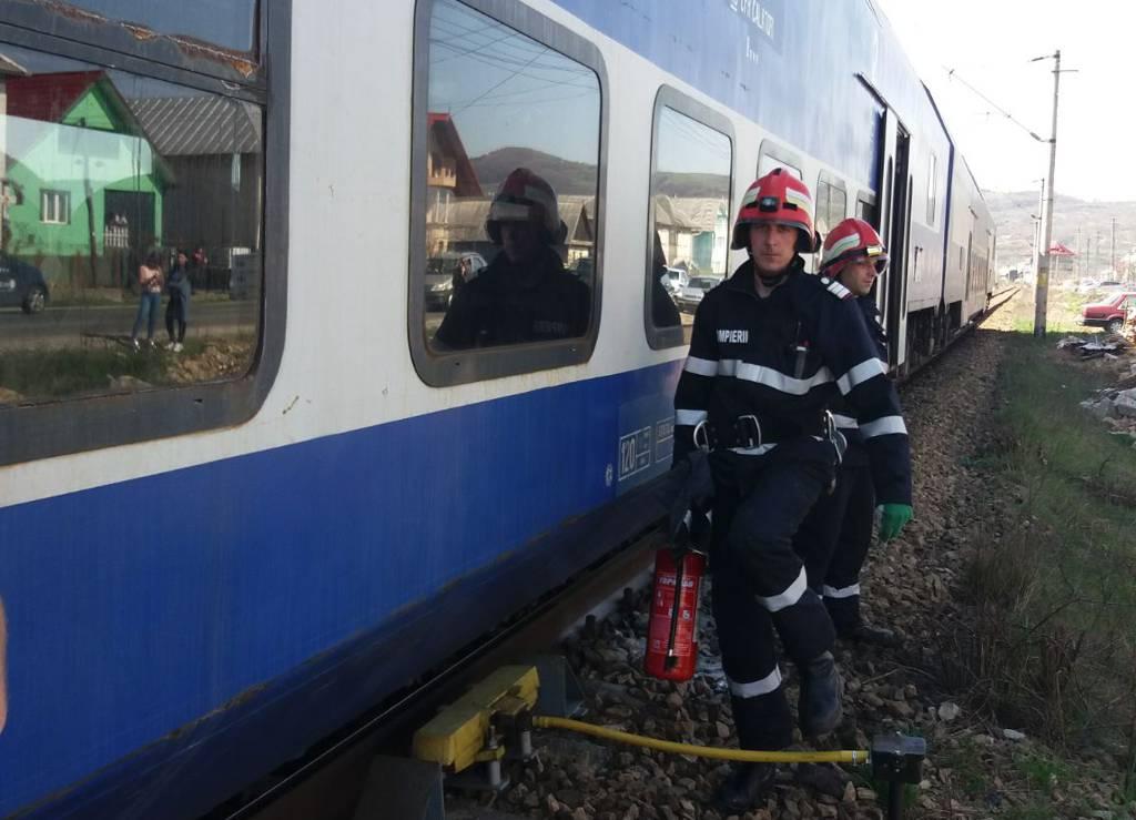 incendiu vagon tren salva