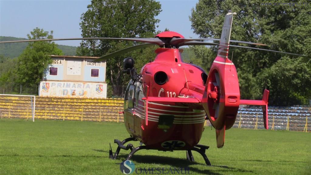 interventie salvare elicopter SMURD dej