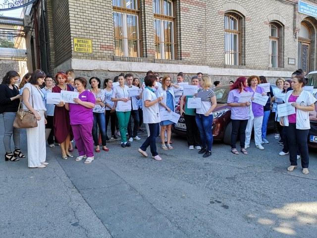 protest spital judetean cluj