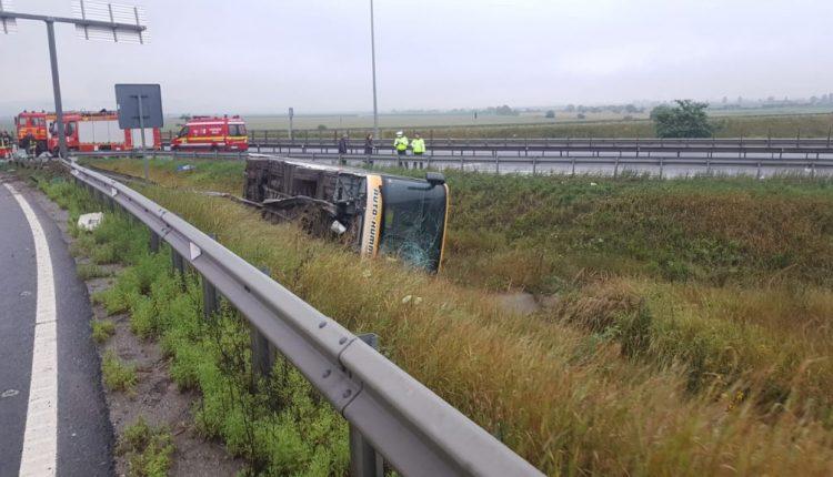 accident autocar sibiu