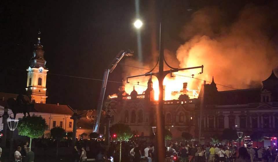 incendiu palat episcopal oradea