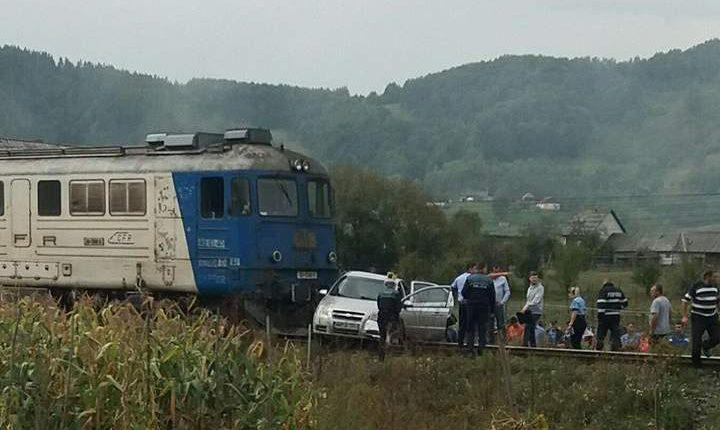 accident feroviar masina lovita de tren leordina