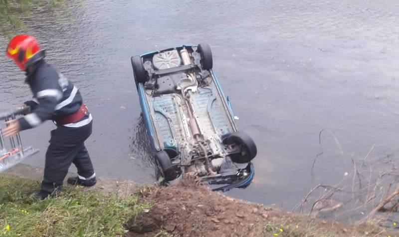 accident masina rasturnata somes