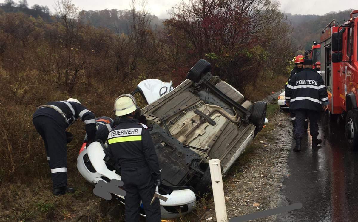 accident masina rasturnata sant dumitra