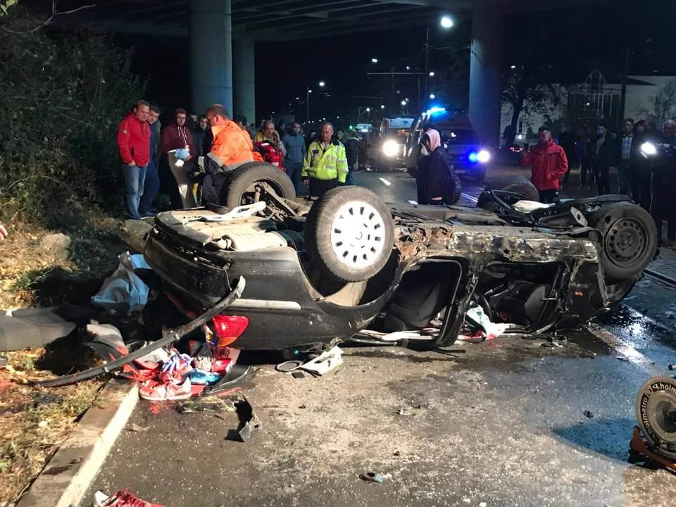 masina rasturnata accident mortal arad4