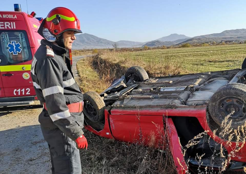 accident masina rasturnata bn