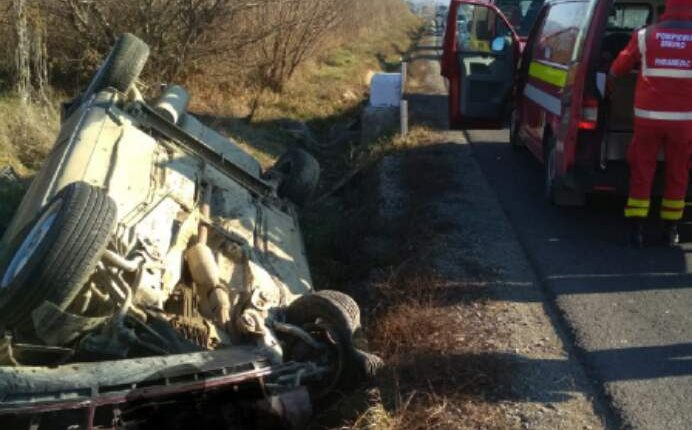 accident masina rasturnata cepari (1)