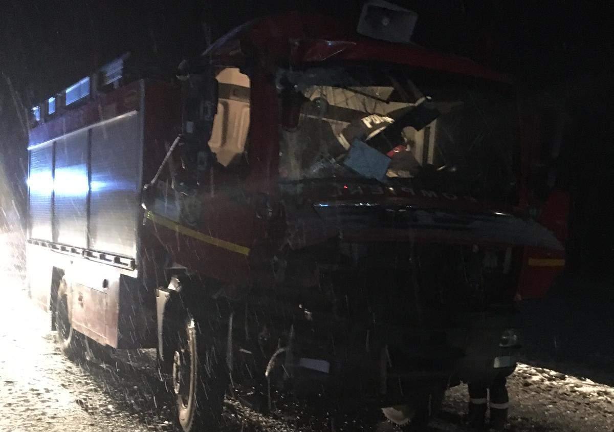 accident autospeciala pompieri