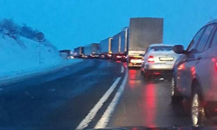 circulatie trafic blocat camioane