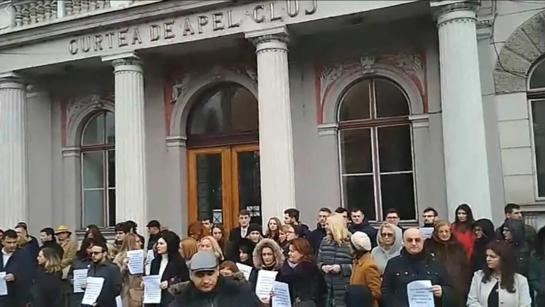 protest magistrati cluj
