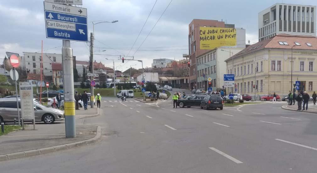 accident semafor cluj