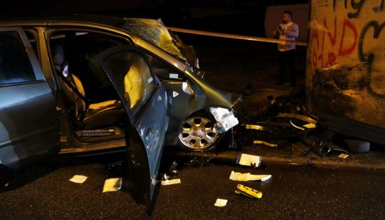 accident mortal masina stalp bistrita