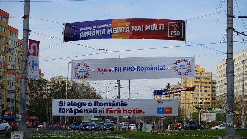 bannere campanie elctorala europarlamentare