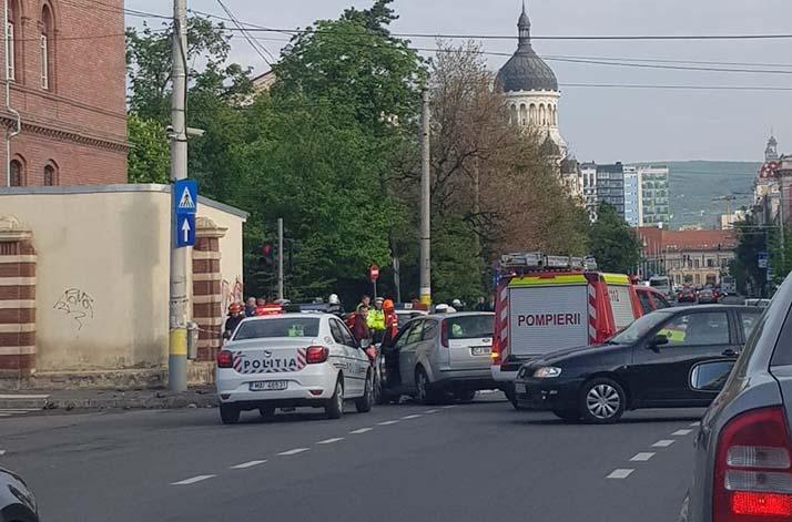 accident masina politie cluj