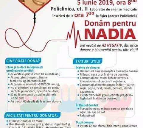 campanie donare sange nadia