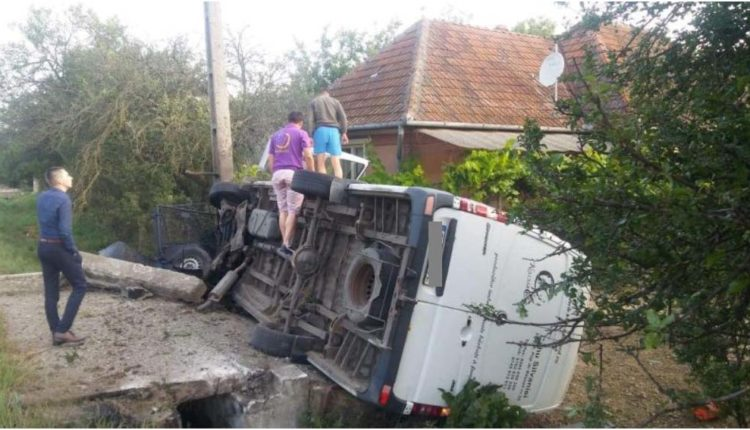accident autoutilitara rasturnata salaj