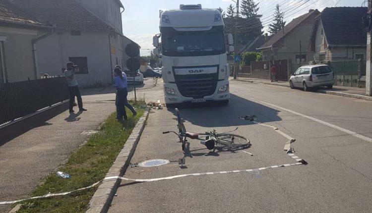 accident bicicleta tir