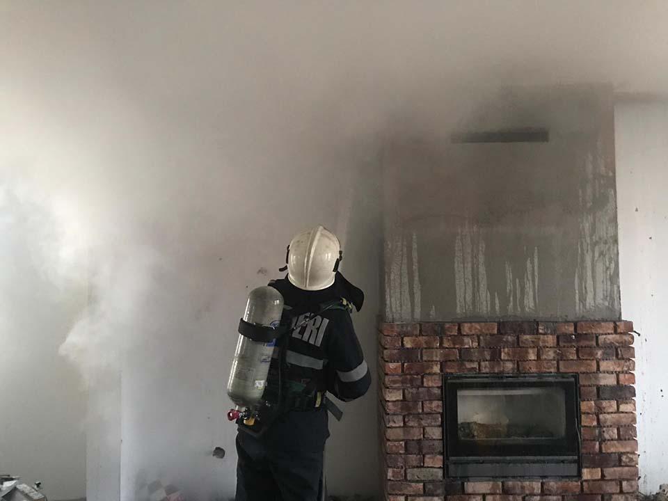 incendiu casa bistrita